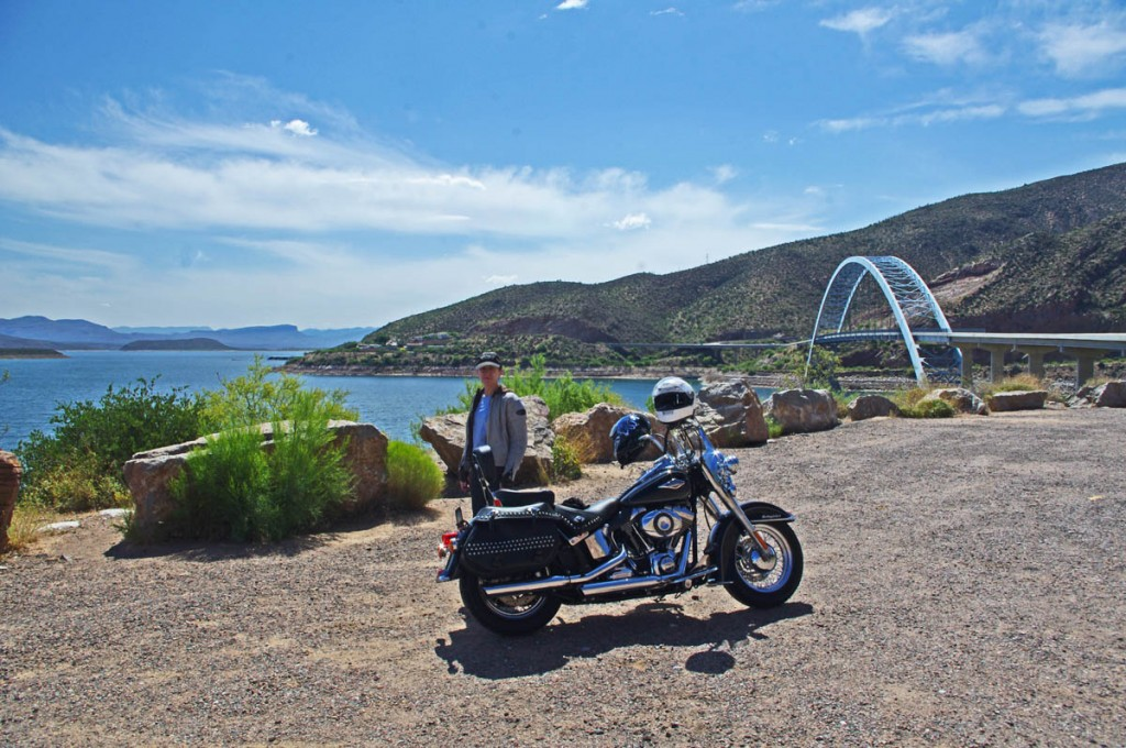 Motorcycle Rides in Arizona: Sedona, Scottsdale area - Very pleasant ride along Theodore Roosevelt Lake.