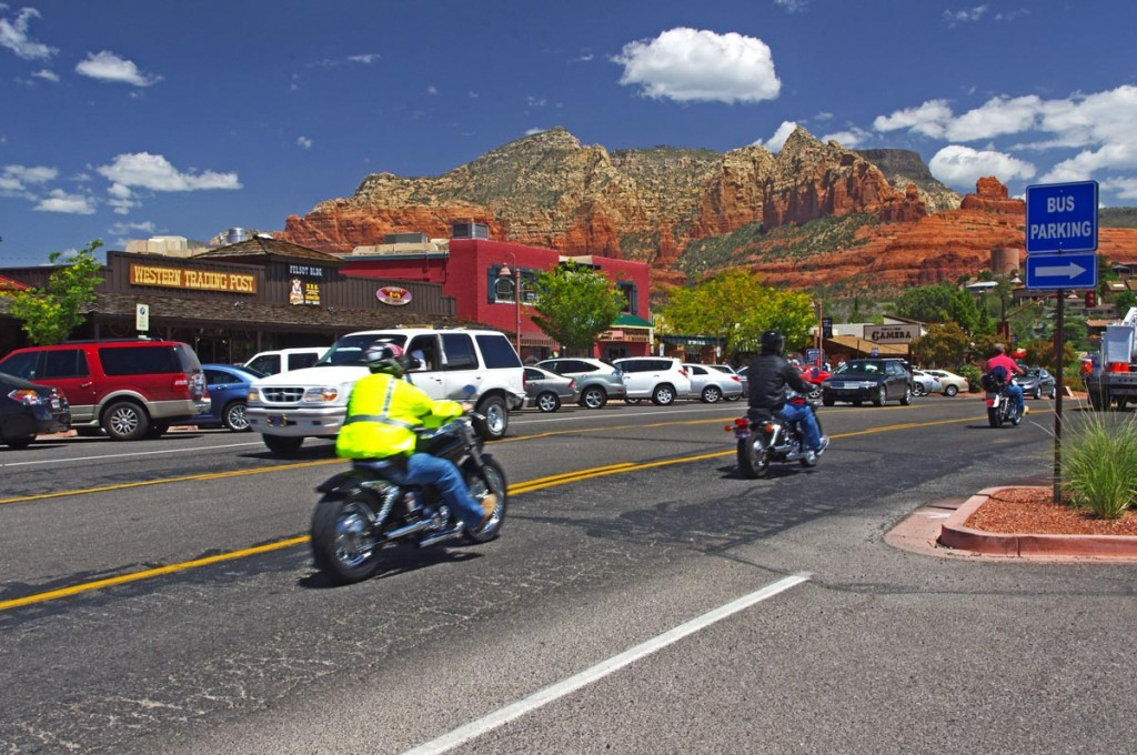 Motorcycle rides in Arizona: Sedona, Scottsdale area - Sedona is a popular destination for motorcycle riders for obvious reasons.