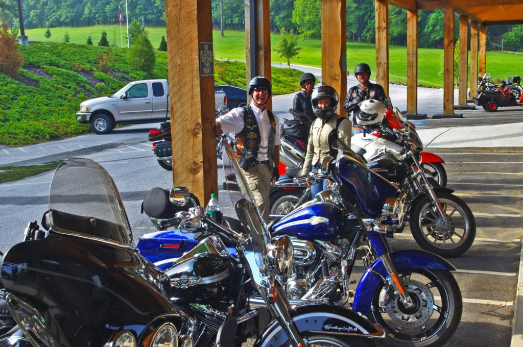 Fun Motorcycle Rides in Georgia-leaving the Lodge at Copperhead