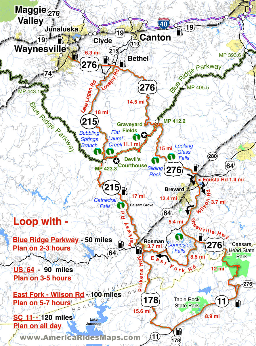 great motorcycle rides in north carolina pisgah triangles motorcycle map