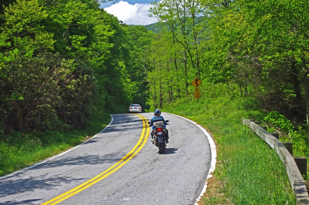 Great Motorcycle Rides in North Carolina - Pisgah Triangles -