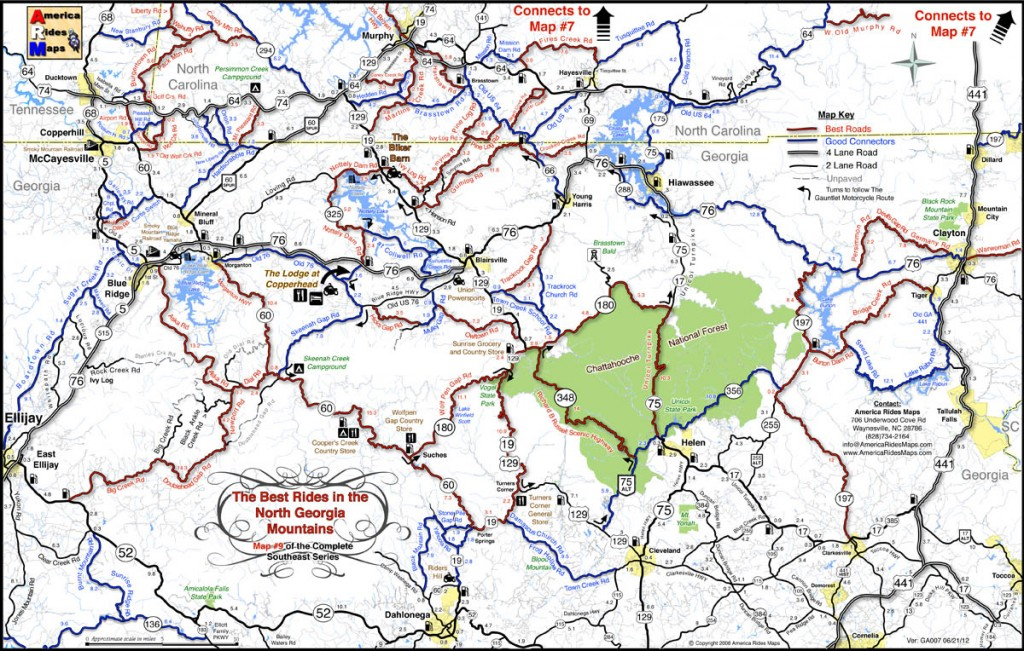 Georgia motorcycle rides map