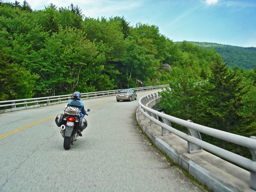 Motorcycle Riding on the Blue Ridge Parkway - Safety Tips - Courteous Passing and Signal your intentions - Choose your passing spots carefully and wisely.
