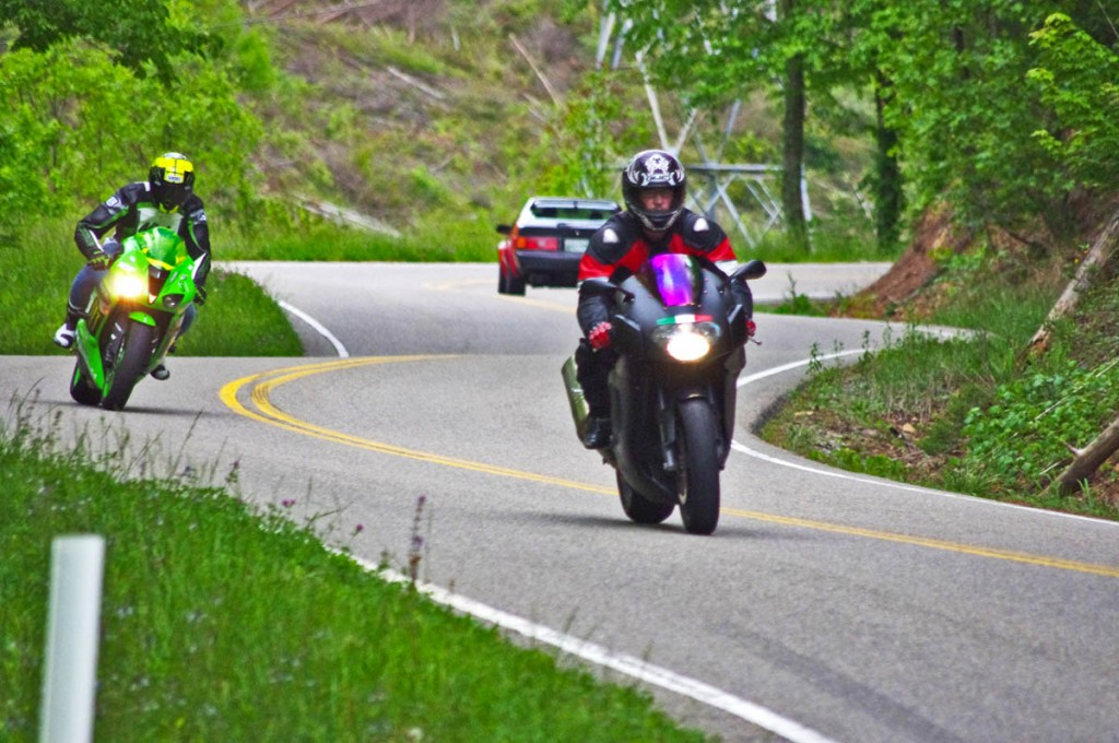 Blue Ridge Parkway to Tail of the Dragon Map - riders come from around the world to experience the Dragon at Deals Gap.
