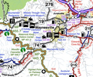 Best Blue Ridge Parkway Overlooks - Waterrock Knob - map