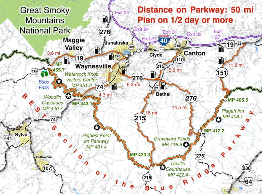 Blue Ridge Parkway Map best