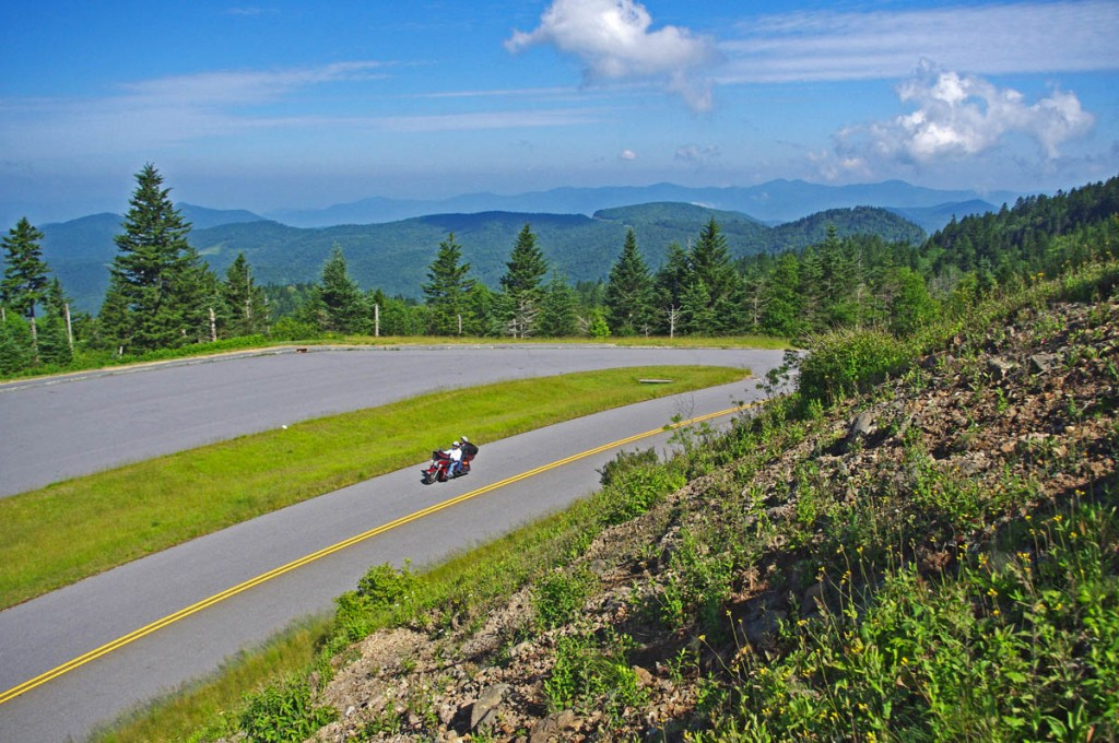 Best Blue Ridge Parkway Overlooks by Motorcycle - high point
