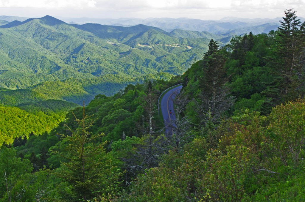 Best Blue Ridge Parkway Overlook by Motorcycle - Waterrock Knob