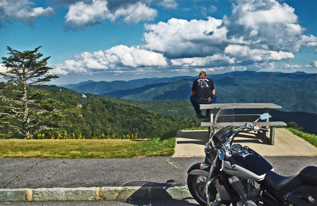 Best Blue Ridge Parkway Overlooks by Motorcycle - Waterrock Knob view
