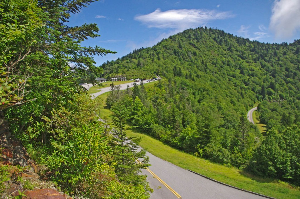 Best Blue Ridge Parkway Overlooks by Motorcycle - Waterrock Knob