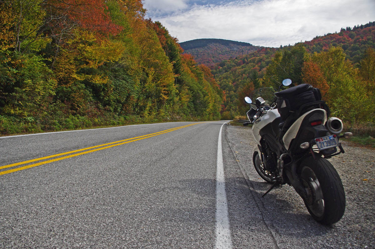 dangerous roads smoky mountain motorcycle rider