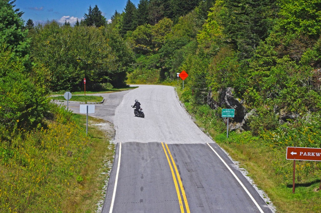 Best Motorcycle Rides in NC - NC 215 - new gravel