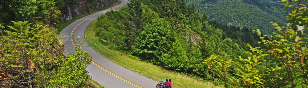 Blue Ridge Parkway-motorcycle-view