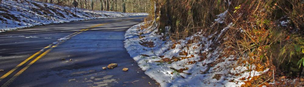 photo - small slide on Blue Ridge PArkway
