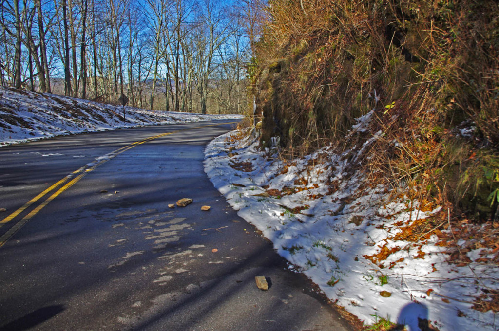 photo - small slide on Blue Ridge PArkway
