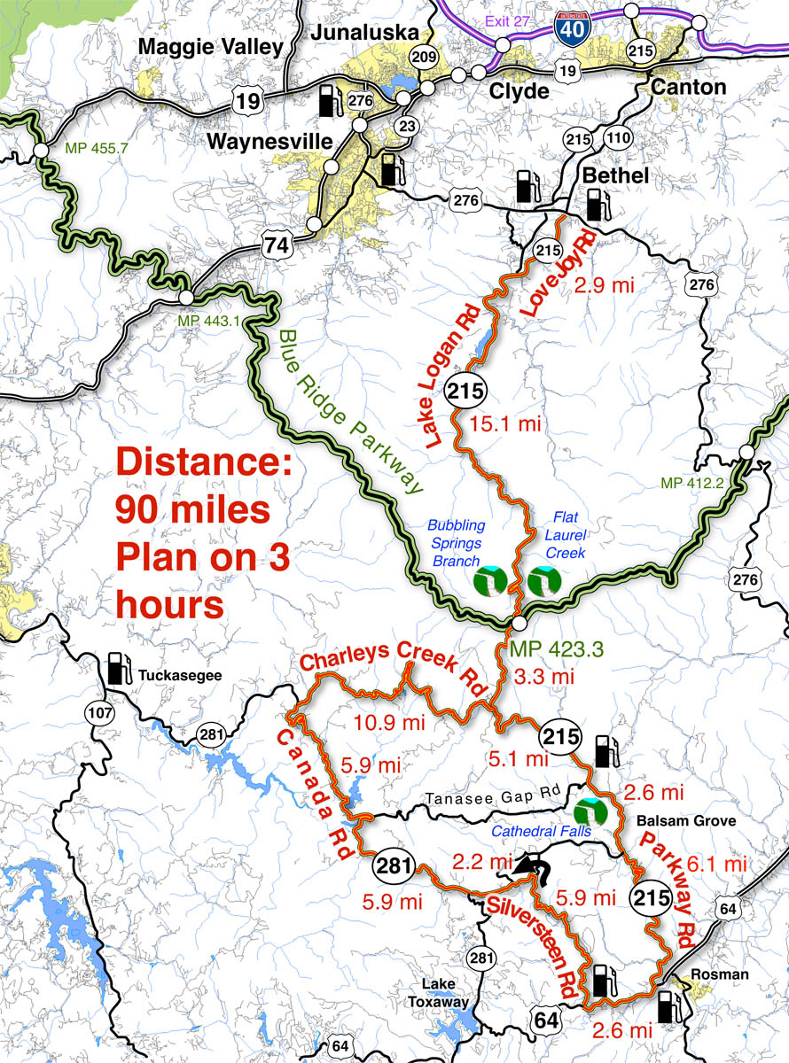 best motorcycle maps Smoky Mountain Motorcycle Rider