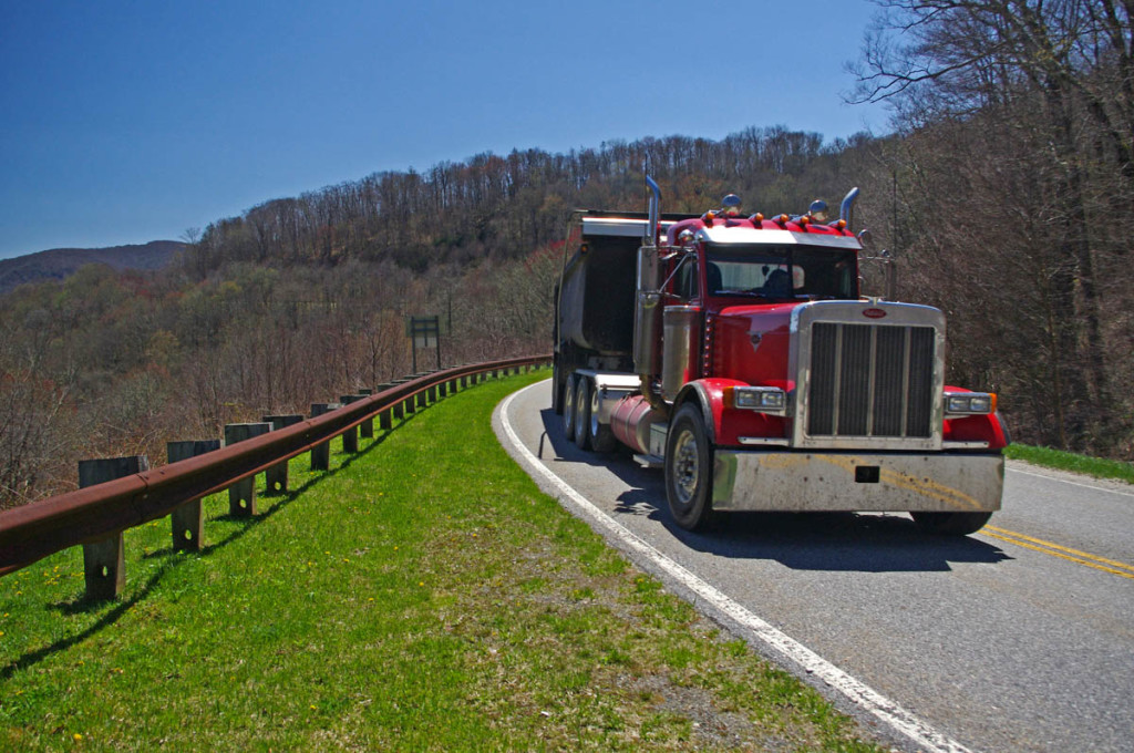 photo - truck on the Cherohala Skyway