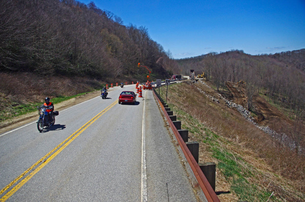 photo - Cherohala Skyway repair work