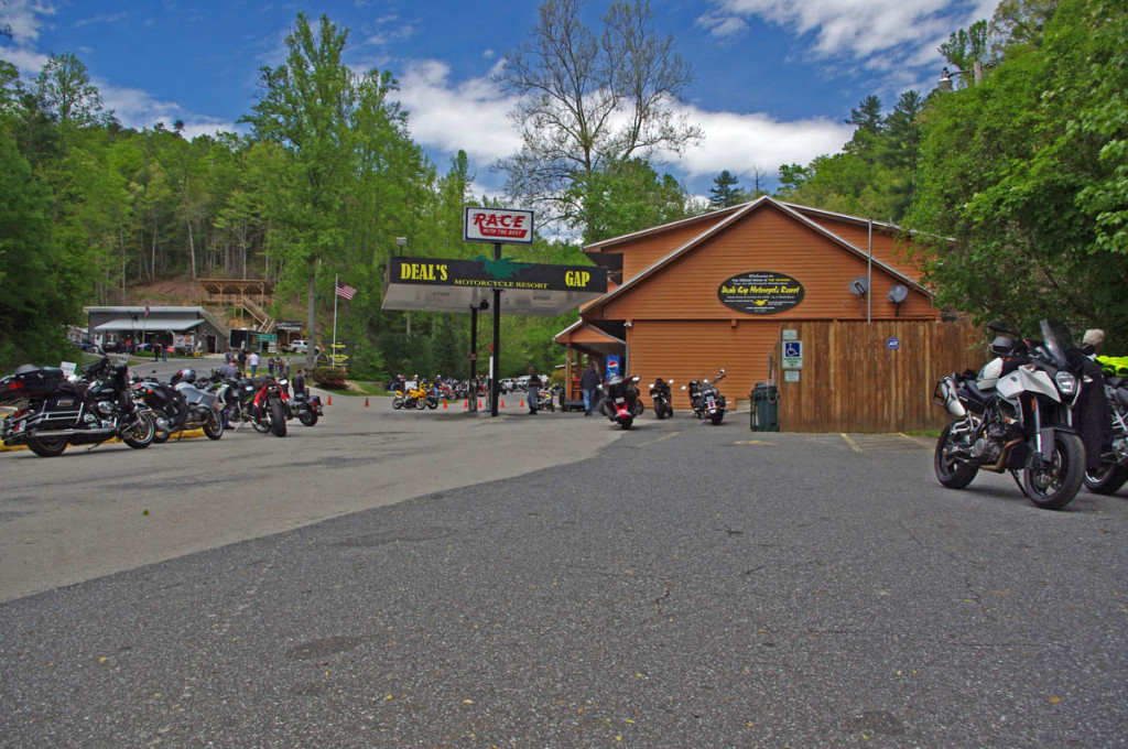 The Deals Gap Motorcycle Resort at the Dragon