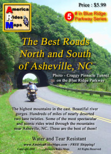 Map #5 - The Best Roads North and South of Asheville, NC