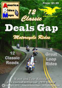 12 Classic Deals Gap Motorcycle Rides pocket map