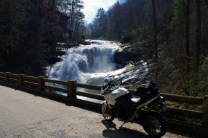 It takes a little effort, but visiting Bald River Falls on your Cherohala Skyway ride is worth it