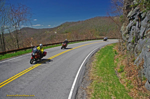 Springtime motorcycle ride on the Cherohala Skyway