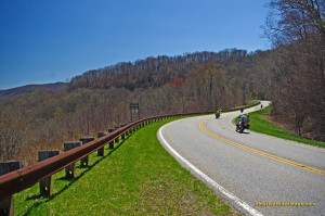 Great views, nice pavement, low traffic, and miles and miles of sweeping curves make the Cherohala Skyway a top motorcycle ride.