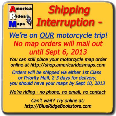 America Rides Maps notice