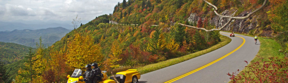 Blue Ridge Parkway Fall Motorcycle