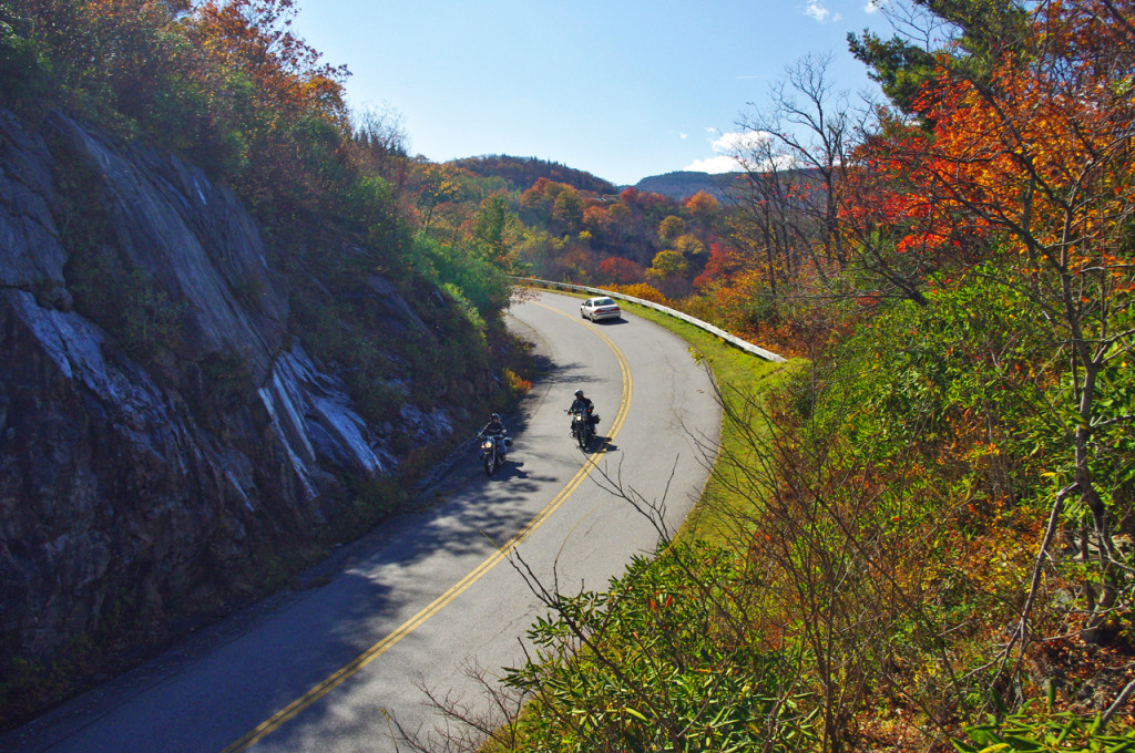 Some of the best views will be from the heights of the Blue Ridge Parkway.