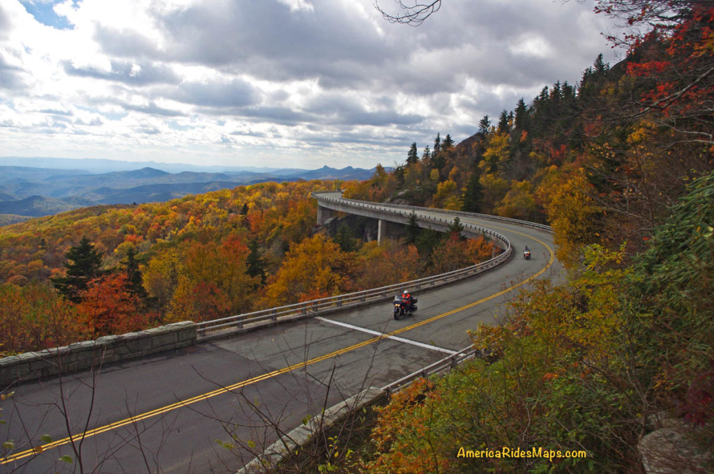 Blue Ridge Parkway Linn Cove Viaduct Fall