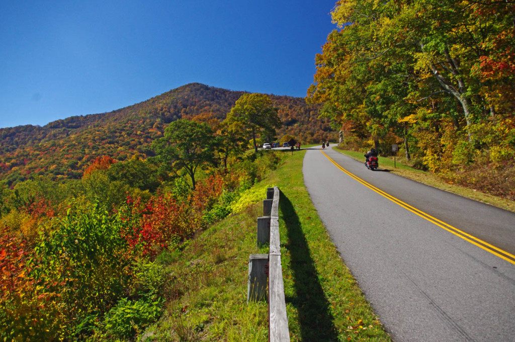 Fall Colors on the Blue Ridge Parkway near Waynesville