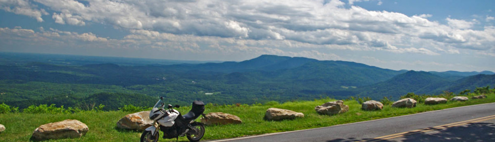 Blue Ridge Motorcycle Rides - Whiteoak Mountain Road