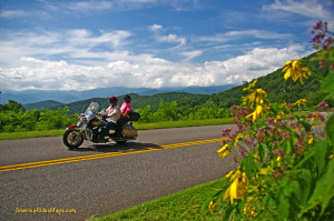 photo  motorcycle on blue ridge parkway
