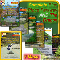 7 map Blue Ridge Parkway + The Dragon set
