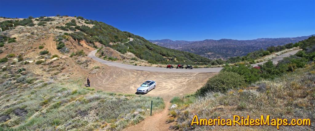 East Camino Cielo Road - A stop to savor the views