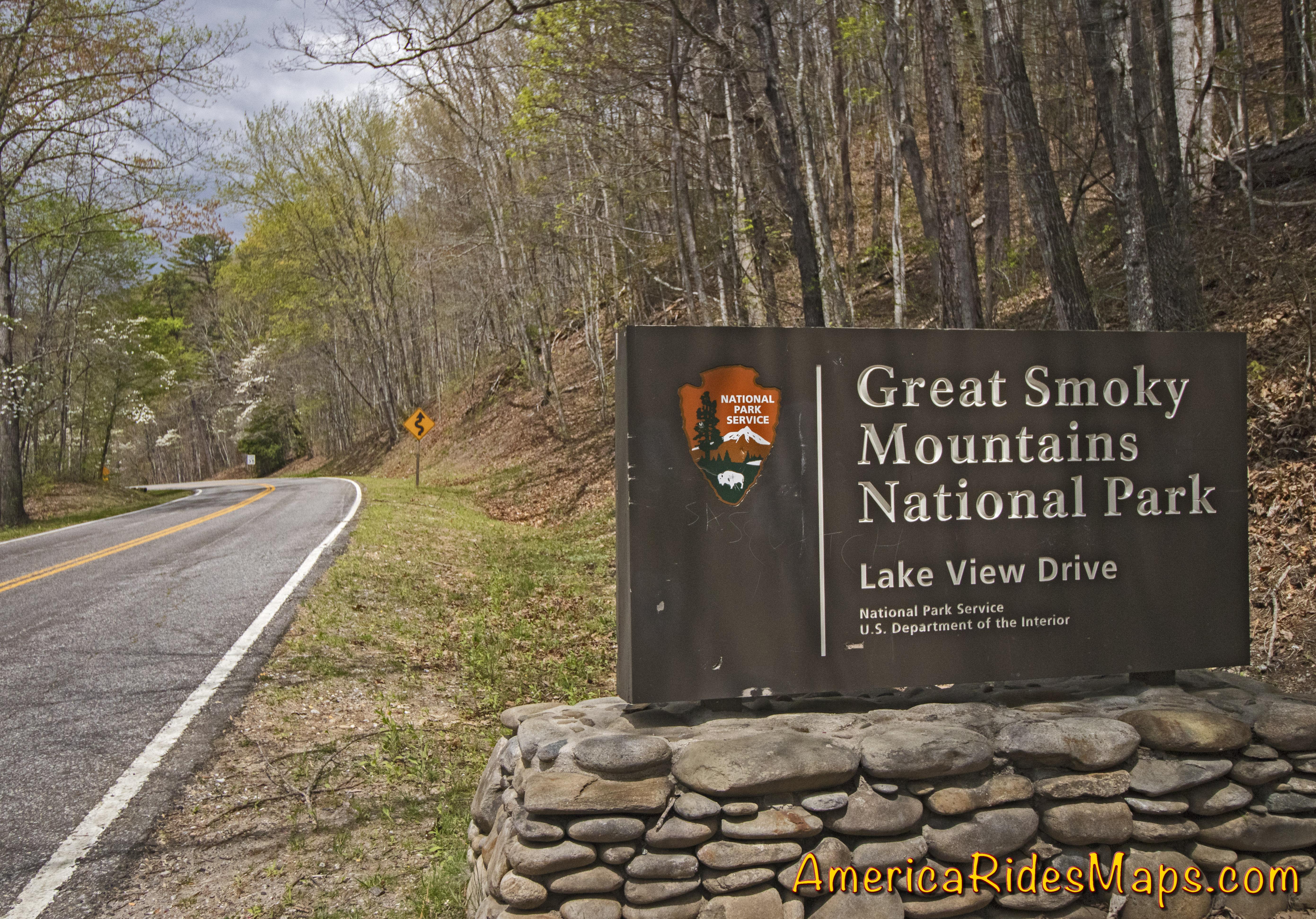motorcycle map Smoky Mountain Motorcycle Rider
